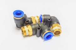 Plastic pipe connector Royalty Free Stock Images