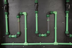 Plastic pipe green Royalty Free Stock Image