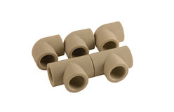 Plastic pipe. Plastic plumbing pipe for the manufacture of water supply in the house Royalty Free Stock Photography