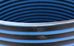 Plastic pipe repair manhole ring Stock Image