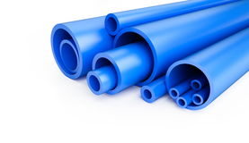 Plastic pipes Stock Photography