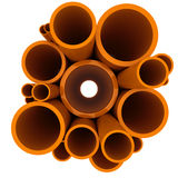 Plastic pipes Stock Image