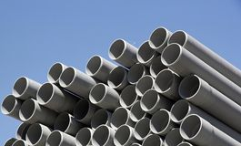Plastic pipes Royalty Free Stock Photography