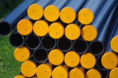 Plastic pipes. For civil construction purposes Stock Photography