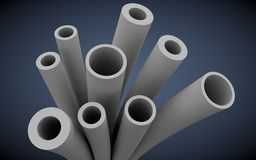 Plastic pipes for heating systems Stock Images