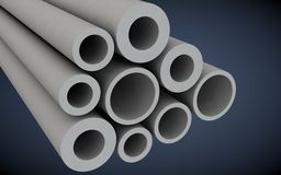 Plastic pipes for heating systems Stock Photo
