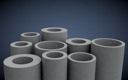 Plastic pipes for heating systems Royalty Free Stock Photo