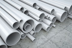 Plastic pipes Royalty Free Stock Images