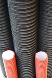 Plastic pipes industriell industry line electricity power current Royalty Free Stock Photos