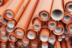 Plastic pipes for sewage Royalty Free Stock Images