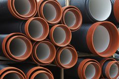 Plastic pipes Royalty Free Stock Image
