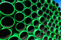 Plastic Pipes Close Detail Royalty Free Stock Photography