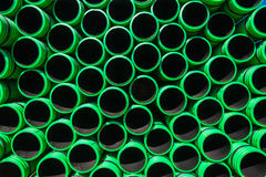 Plastic Pipes Stacked Royalty Free Stock Photography
