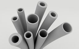 Plastic pipes for water supply Stock Photo