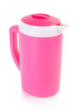 Plastic pitcher on the background Royalty Free Stock Image