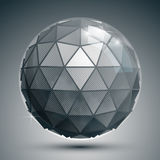 Plastic pixel dimensional sphere, synthetic Royalty Free Stock Photos
