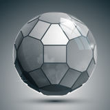 Plastic pixel grayscale dimensional sphere Royalty Free Stock Images