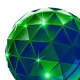 Plastic pixilated background with dimensional sphere, synthetic Stock Photos