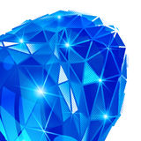 Plastic pixilated 3d complicated background. Plastic pixilated background with dimensional complicated object, synthetic dotted geometric backdrop Royalty Free Stock Image