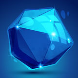 Plastic pixilated 3d shiny object, bright deformed synthetic ele Royalty Free Stock Photography