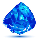 Plastic pixilated 3d shiny object  on white background, Royalty Free Stock Image