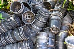 Plastic plant pots Royalty Free Stock Photos