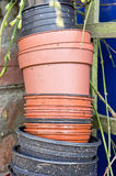 Plastic plant pots Stock Photos