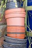 Plastic plant pots Stock Photos
