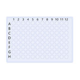 Plastic  plate for molecular biology research Stock Photography