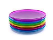 Plastic Plates Stock Photo