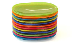 Plastic plates Royalty Free Stock Photos