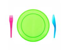 Plastic Plates Stock Photography