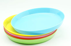 Plastic plates Royalty Free Stock Photography