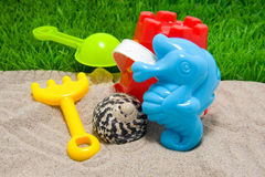 Plastic play toys for beach Stock Image