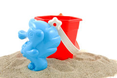 Plastic play toys for at the beach Stock Photography