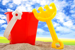 Plastic play toys for at the beach Stock Image