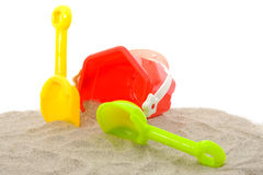 Plastic play toys for at the beach Royalty Free Stock Photo