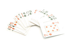 Plastic playing cards deck Stock Image