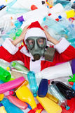 Plastic polluted Christmas Stock Photos