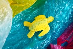 Plastic pollution in ocean problem. Sea Turtle plastic bag. Ecological situation. Zero waste. Plastic pollution in ocean environmental problem. Sea Turtle eat stock photography