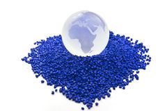 Plastic polymer granules Stock Image