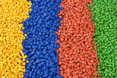 Plastic polymer granules Royalty Free Stock Image