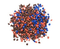 Plastic polymer granules Stock Photos