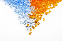 Plastic polymer granules Stock Photo