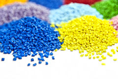 Plastic polymer granules Royalty Free Stock Photography