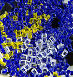 Plastic polymer granules Stock Images