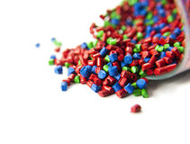 Plastic polymer granules Royalty Free Stock Images