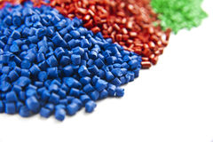 Plastic polymer granules Royalty Free Stock Photos
