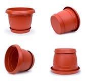 Plastic Pot - Multi Poses Royalty Free Stock Photography