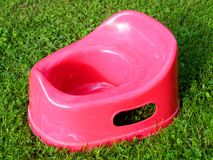 Plastic potty Stock Photo